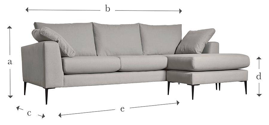 Veldig The Milano Grand Chaise Sofa AW-01
