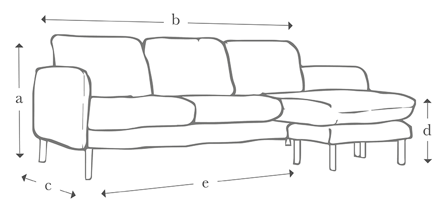 The Scandi Midi Chaise Sofa