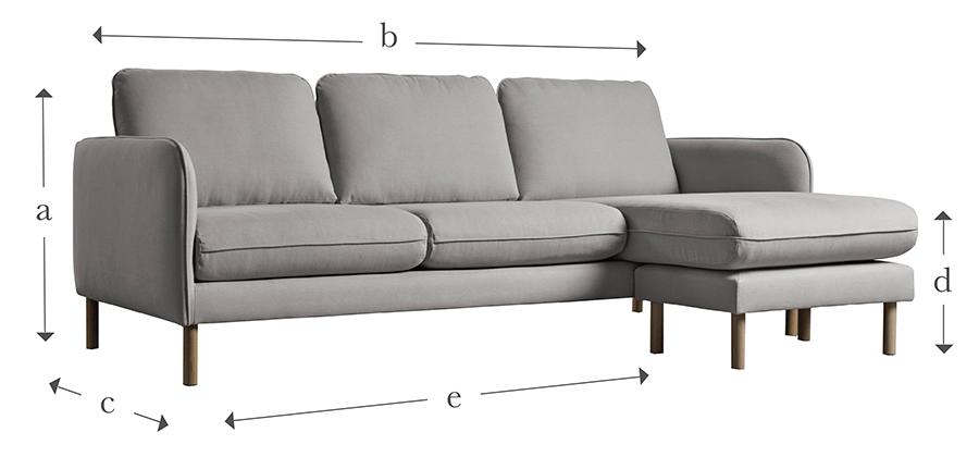 The Scandi Midi Chaise Sofa
