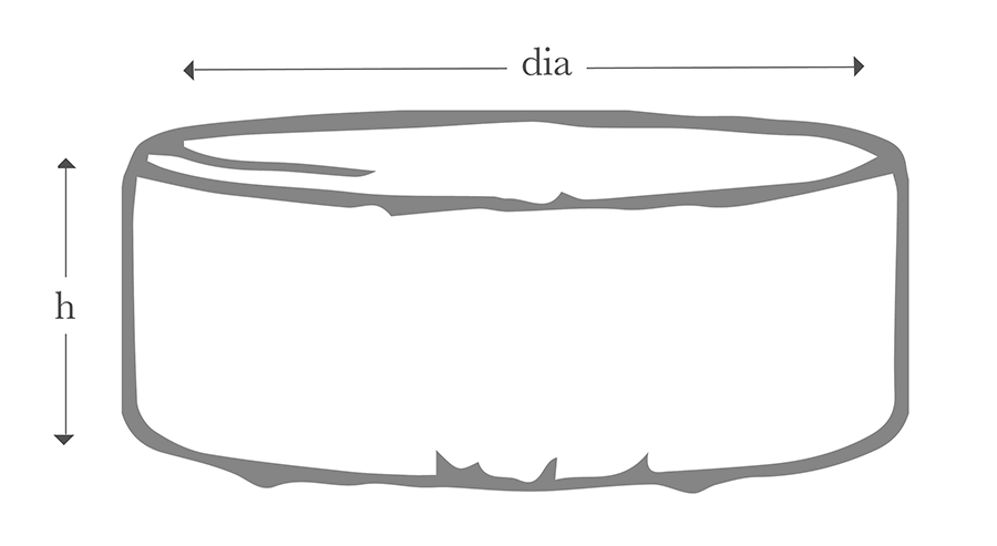 The Scandi Round Ottoman